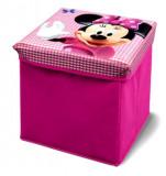 Taburet si cutie depozitare jucarii Disney Minnie Mouse, Delta Children