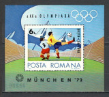 Romania.1972 J.O. de vara MUNCHEN-colita  YR.543, Nestampilat