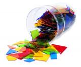 Poligoane colorate - set 450 buc, Learning Resources