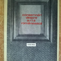 Petre Oprea - Consemnari despre arta romaneasca