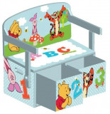 Mobilier 2 in 1 pentru depozitare jucarii Disney Winnie The Pooh, Delta Children