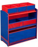 Organizator jucarii cu cadru din lemn Love Blue Red, Delta Children