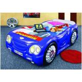 Pat masina copii Sleep Car - Plastiko - Albastru