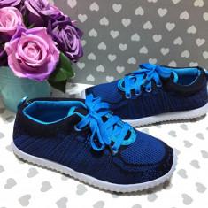 Adidasi albastri colorati textil comozi tenisi sport fete baieti 31 32 33 34 36, Unisex, Din imagine