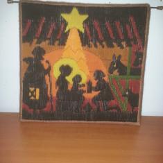Tablou tesut/ornament perete-Nasterea Domnului