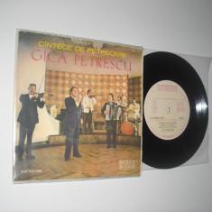 Gică Petrescu: Cîntece De Petrecere (1976)(disc mic vinil, stare NM; EPC 10.462), electrecord