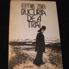 BUCURIA DE A TRAII-EMILLE ZOLA-TRAD. ANGELA CISMAS-=304 PG-, Alta editura