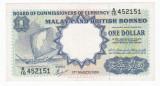 MALAYA & BRITISH BORNEO 1 dolar 1959 VF P-8