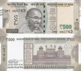 INDIA 500 rupees 2017 UNC!!!