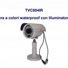 CAMERA DE SUPRAVEGHERE COLOR TECNOVA TVC804IR, Exterior, Cu fir