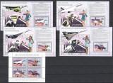 CONGO 2006 - AVIATIE - SERIE IN BLOC+4 BLOCURI NESTAMPILATE - MNH / aviatie76