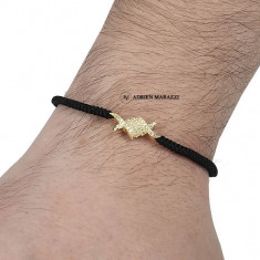 Bratara barbati ADRIEN MARAZZI AM-192 (microfibra, metal placat cu aur 18k)