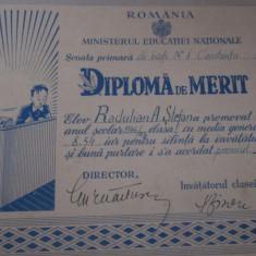 diploma rara an 1946 scoala primara de baieti nr 1 constanta caiet diplome