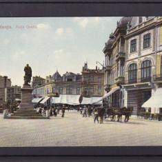 CONSTANTA  1910   PIATA  OVIDIU  HOTEL  EUROPA  MAGAZIN TRASURA  EPOCA, Necirculata, Printata