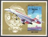 UMM AL QIWAIN 1971 - AVIATIE,BALOANE - BLOC STAMPILAT - NEDANTELAT / aviatie78