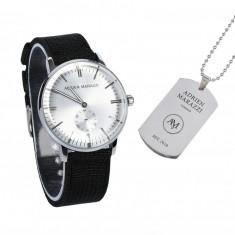 Set ceas + medalion inox barbati ADRIEN MARAZZI Black-Xtreme - LIVRARE GRATUITA
