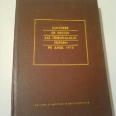 CULEGERE DE DECIZII ALE TRIBUNALULUI SUPREM PE ANUL 1976