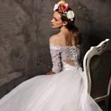 Rochie de mireasa PRINCESS cu mâneci, Rochii de mireasa printesa