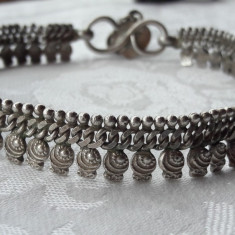 BRATARA argint DE PICIOR veche KAMAA INDIA etnica TRIBALA superba MASIVA vintage