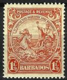 BARBADOS 1933 MNH, Nestampilat