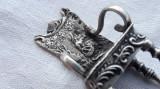 Rezervat 15.10 - SCAUN argint ornat EXCEPTIONAL CONTESA la cules de MERE unicat, Ornamentale