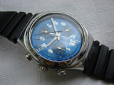 Ceas barbatesc de mana cu cronograf si data marca SWATCH SWISS, Casual, Quartz, Otel