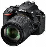 Aparat Foto D-SLR Nikon D5600, Obiectiv AF-S 18-105 mm VR, 24.2 MP, Filmare Full HD, WiFi, NFC (Negru)
