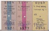 Bnk  div CFR - tren - bilet +supliment-tichet rapid Costinesti Campina 2003