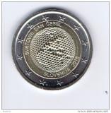 Moneda 2 euro comemorativa SLOVENIA 2018, UNC, Europa, Cupru-Nichel