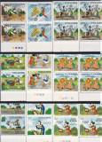 ROMANIA 1986 LP 1153   WALT  DISNEY  II  BLOCURI DE 4 TIMBRE  MNH