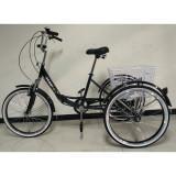 Tricicleta adulti rabatabila 24 toli 6 viteze suporta 180kg-noua, 16.5