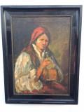 Tablou scoala Romaneasca prob atributia lui Bancila, Scene gen, Ulei, Impresionism