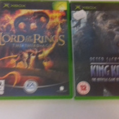 LOT 2 JOCURI  XBOX - King Kong + Lord of the rings [Second hand], Actiune, 12+, Multiplayer