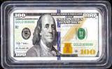Lingou 100 Dollars Bancnota 100 Dolari Bullion Bar One Hundred US Dollars, America de Nord