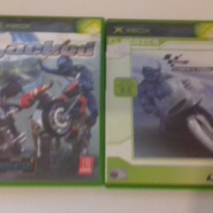 LOT 2 JOCURI  XBOX - Jacked + Moto GP  [Second hand], Curse auto-moto, 12+, Multiplayer