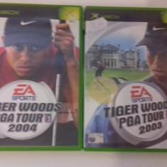 LOT 2 JOCURI  XBOX - Tiger Woods PGA Tour 2003 2004 [Second hand], Sporturi, 12+, Multiplayer