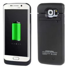 Husa Acumulator Extern Power Bank Samsung Galaxy S6 Edge G925 4200mAh Neagra