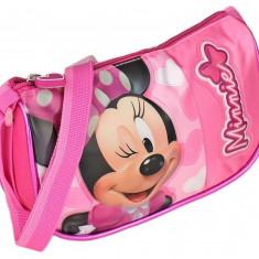 Geanta de umar , roz , Minnie Mouse , 20x12x5 cm