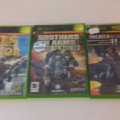 LOT 3 JOCURI  XBOX - Men of Valor - Soldier of fortune - Brothers [Second hand], Shooting, 12+, Multiplayer