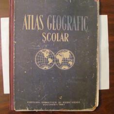 """PVM - """"Atlas Geografic Scolar 1963"""" / a aprtinut elevei Cerbuceanu"""
