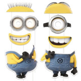 Props-uri Minions, accesorii PhotoBooth party, set 8 piese