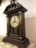 Ceas vechi de birou cu pendul Junghans 1880