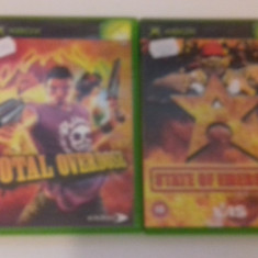 LOT 2 JOCURI  XBOX - Total Overdose - State of emergency [Second hand], Actiune, 12+, Multiplayer