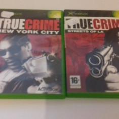 LOT 2 JOCURI  XBOX - True Crime  [Second hand], Actiune, 12+, Multiplayer