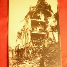 2 Ilustrate- Distrugerea Orasului Arras de catre germani ww1 Franta