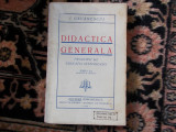 I. Gavanescul - Didactica generala