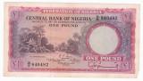 NIGERIA 1 pound 1958 F P-4
