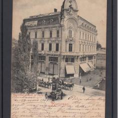 BUCURESTI  MAGAZIN GENERAL DE  PARIS TRASURI  CLASICA  CIRCULATA  1901, Printata