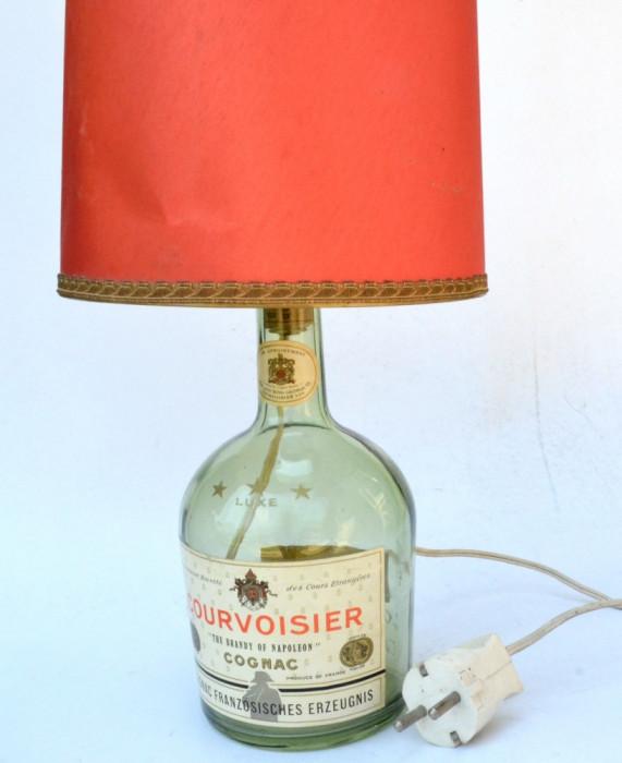 Veioza veche de Bar, Berarie, Pub - sticla de Cogniac - anii '60