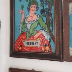 Veche icoana pe sticla
